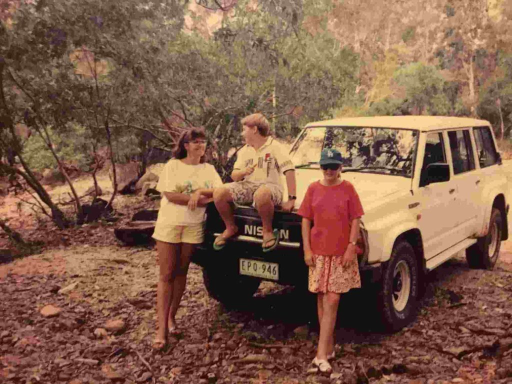 Family with Nissan Patrol